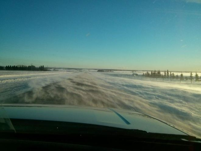 Winter Touring outside of Grande Prairie